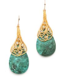 Alexis Bittar Mauritius Capped Chrysocolla Earrings - Lyst