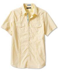 Banana Republic Slimfit Shortsleeve Utility Shirt - Lyst