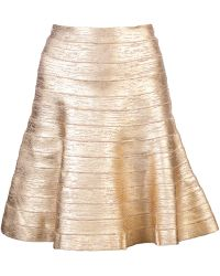 Hervé Léger Fit and Flare Bandage Skirt - Lyst