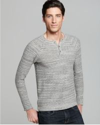 Rogan Space Dyed Henley - Gray