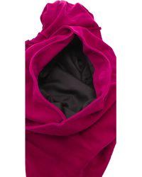 Simone Camille Moon Suede Bag - Purple