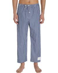 Thom Browne - Cropped Striped Pyjama Trousers - Lyst