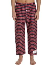 Thom Browne - Cropped Check Pyjama Trousers - Lyst