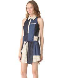 Viva Vena - Chinati Patchwork Dress - Lyst