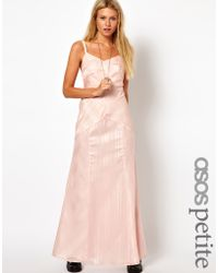 ASOS Collection  Maxi Dress in Textured Stripe - Lyst