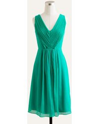J.Crew Louisa Dress in Silk Chiffon - Lyst