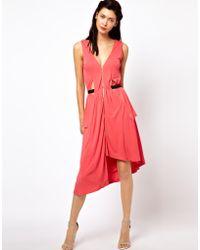 Sophia Kokosalaki Kore By Drape Side Panel Dress - Lyst