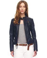 Michael Kors Leather Motorcycle Jacket - Lyst