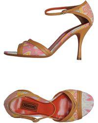 Missoni Highheeled Sandals - Lyst