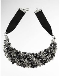 Nina Glass Pearl and Crystal Ribbon Necklace - Lyst