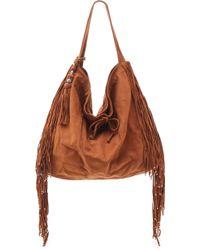 Simone Camille Crescent Nubuck Bag - Brown