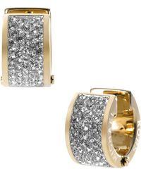 Michael Kors Pave Crystal Hug Earrings gold - Lyst