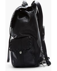 Damir Doma - Black Leather Laced Briar Backpack - Lyst