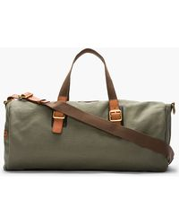 Marc By Marc Jacobs - Large Olive Green Leathertrimmed Canvas Duffle - Lyst