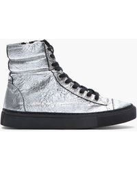 Silent - Damir Doma | Metallic Silver Crinkled Leather Surna Sneakers | Lyst