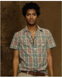 Denim & Supply Ralph Lauren Chapman Plaid Madras Workshirt - Brown