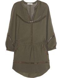 IRO Zayne Silk and Cotton Dress green - Lyst