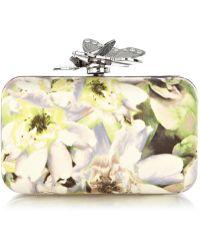 Karen Millen Painterly Floral Clutch - Multicolour