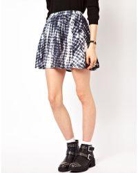 ASOS Collection Skater Skirt in Tie Dye Print white - Lyst