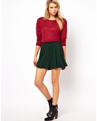 ASOS Collection  Skirt in Skater Style green - Lyst
