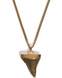 Givenchy Embellished Sharktooth Necklace yellow - Lyst