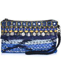 Matthew Williamson Taj Tapestry Clutch Bag - Blue