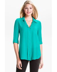 Pleione Mixed Media Shirt - Lyst