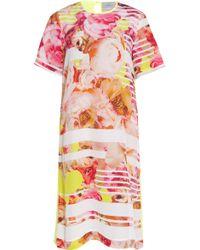 Preen By Thornton Bregazzi Peony Silk Dress with Citrus Back - Lyst