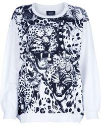 A Question Of - Leopard Loose Sweatshirt - Lyst