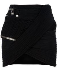 Anthony Vaccarello Zipped Skirt - Black