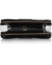 Anya Hindmarch - In Flight Patent Leather Trimmed Travel Case - Lyst