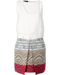 Jo No Fui - Sleeveless Multi-Pattern Dress - Lyst
