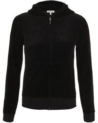 Juicy Couture Velour Logo Hooded Sweatshirt - Lyst