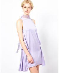 Sophia Kokosalaki - By Sophia Kokosalaki Lace Neck Tie Dress - Lyst