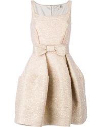Lanvin Flared Sleeveless Dress gold - Lyst
