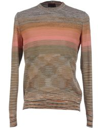 Missoni Wool-Camel Hair Double-Breasted Cardigan pink - Lyst