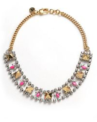 Juicy Couture - Rhinestone Chain Stud Necklace - Lyst