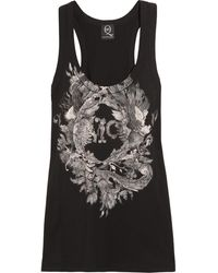 McQ by Alexander McQueen Printed Cotton-Jersey Tank - Lyst