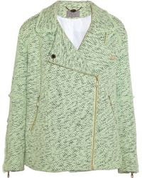 Mulberry Oversized Cotton tweed Biker Jacket - Lyst