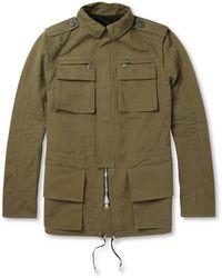 Balmain Cotton and Linenblend Field Jacket - Green