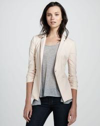 Elizabeth And James Jax Twill Blazer pink - Lyst