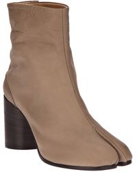 Maison Margiela Tabby Toe Ankle Boot brown - Lyst
