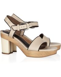 Marni Leather Clog Sandals - Lyst