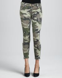 Textile Elizabeth and James Cooper Camo Zip Leg Skinny Jeans - Lyst