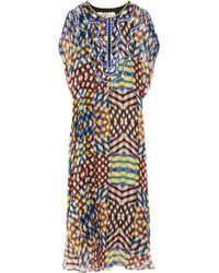 Easton Pearson Marta Embellished Silk-Chiffon Maxi Kaftan - Multicolor