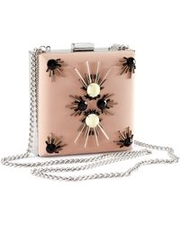 H&M Clutch with Beaded Embroidery - Pink