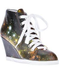 Judari - Galaxy Printed Wedge Sneaker - Lyst