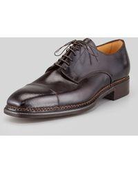 Lidfort Captoe Leather Bluche - Brown