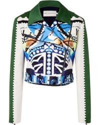 Mary Katrantzou Multicolored Cotton-Silk Starsailor Jacket - Lyst
