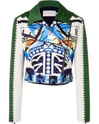Mary Katrantzou Multicolored Cotton-Silk Starsailor Jacket multicolor - Lyst